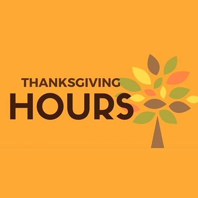Thanksgiving Hours Illustration