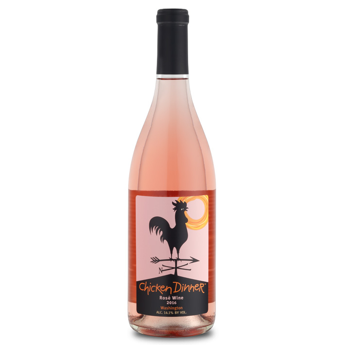 Chicken Dinner Rosé bottle
