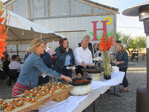 Food lineup at Huston Vineyard's 2016 World Malbec Day event