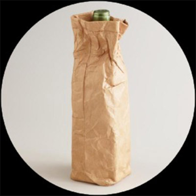 Wine bottle in paper bag