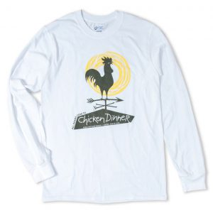 Chicken Dinner Wear Long Sleeve White Cotton Shirt