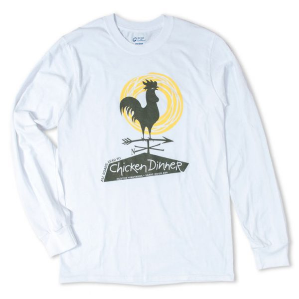 Chicken Dinner Wear Long Sleeve White Cotton Shirt
