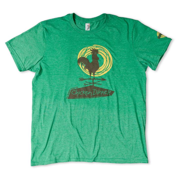 Chicken Dinner Mens Green T-Shirt