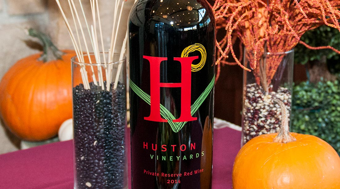 A beautiful time of year at Huston Vineyards
